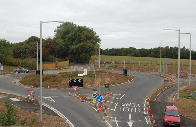 New roundabout near Potford's Dam Farm (3)