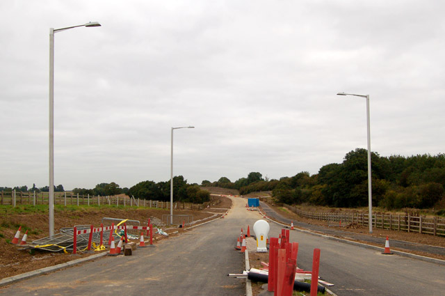 Rugby Western Relief Road under construction (1)