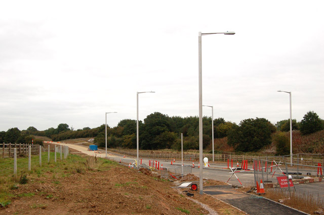 Rugby Western Relief Road under construction (2)