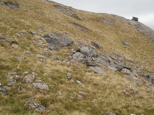 Boulderfield,  northeast ridge, Beinn a' Chreachain