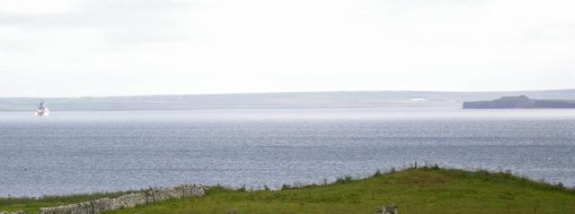 Grassy coastal terrace near Hilton