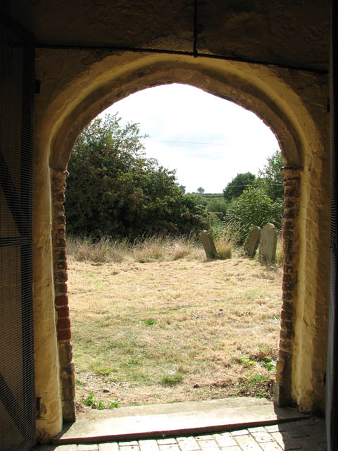 St Gregory's Church - view through south porch doorway