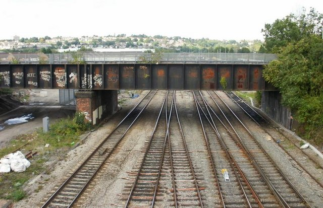 Maesglas Road railway bridge, Newport