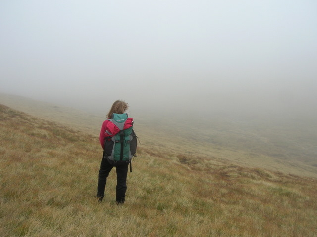 Just east of the summit of Meallan Ban