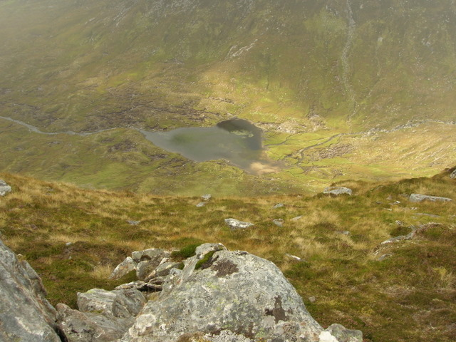 Loch na Still from the ridge NW Meallan Ban
