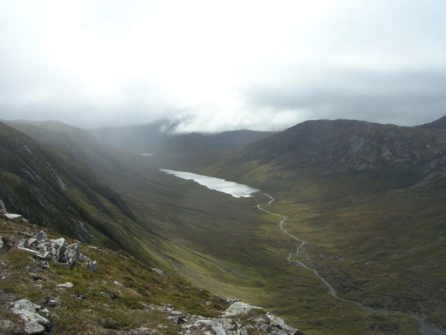 Loch Coire Lair from the ridge NW of Meallan Ban