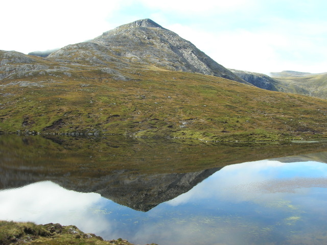 Cona Mheall reflected in Loch Prille