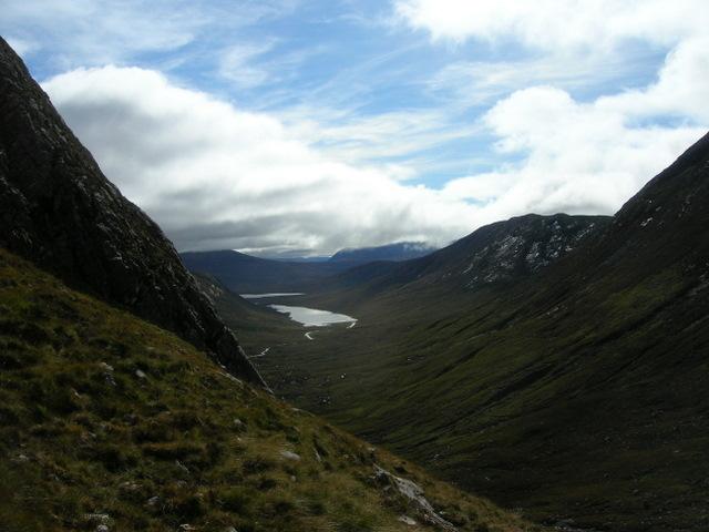 Loch Coire Lair from below Loch Prille