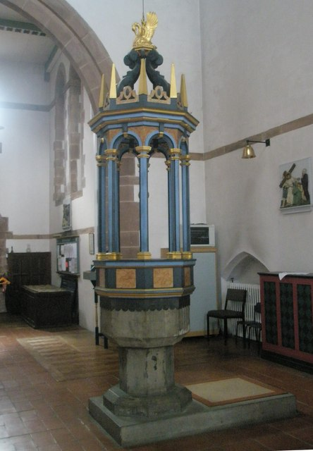 The font at St Alban's, Copnor