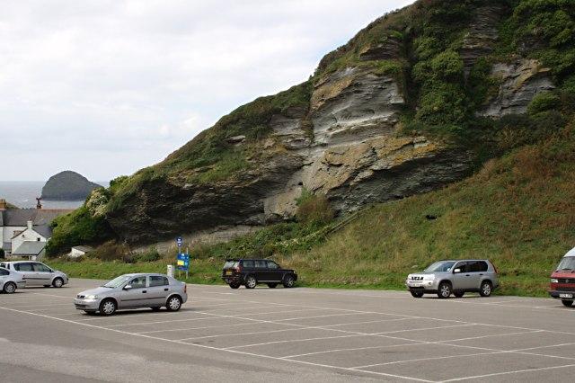 Car Park Under A Cliff