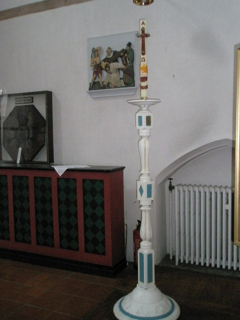 Paschal candle within St Alban's Copnor