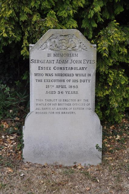 Essex policeman killed on duty 1893.