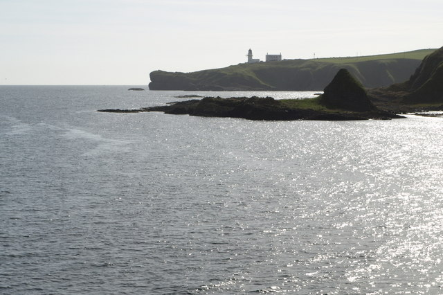 View of Todhead Lighthouse and Todhead Point