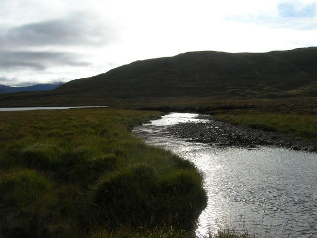Allt Lair entering Loch Gharbhrain