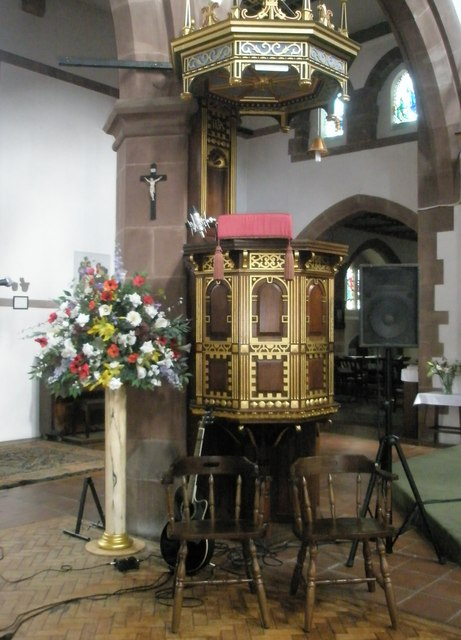 The pulpit at St Alban's, Copnor