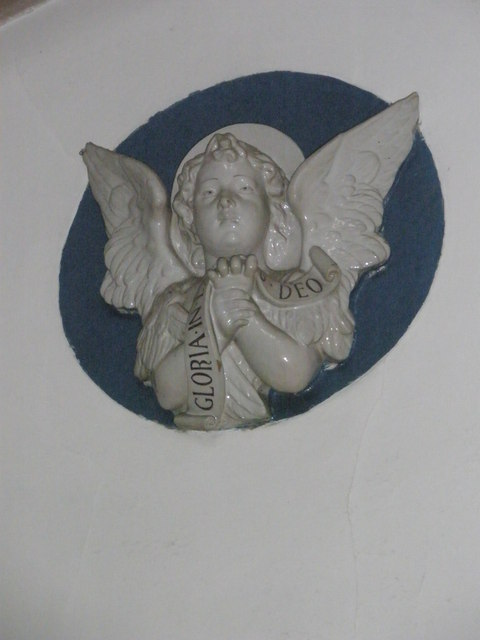 Angelic presence on the wall at St Alban's, Copnor