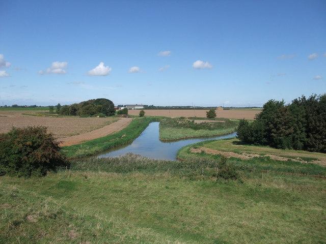 Drainage pond, Kirton Marsh