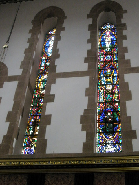 Stained glass window above the altar at St Alban's, Copnor