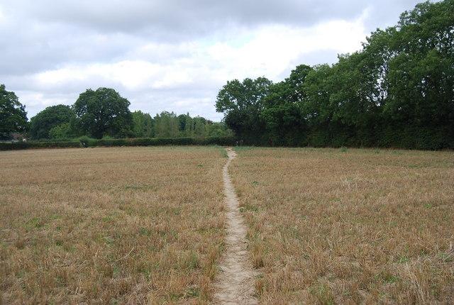 Tunbridge Wells Circular Path crosses a field towardsLegg's Lane