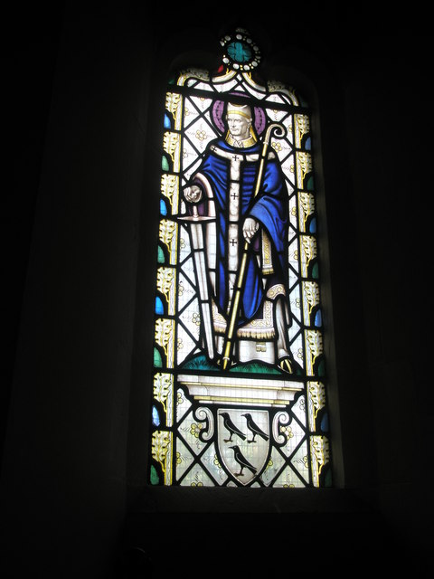 Improved stained glass window within St Alban's, Copnor