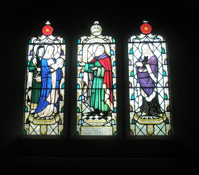 Delightful stained glass windows within St Alban's, Copnor
