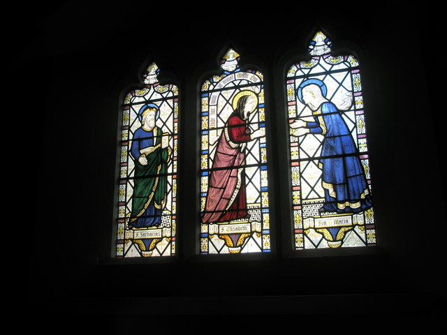 Linked stained glass windows within St Alban's, Copnor