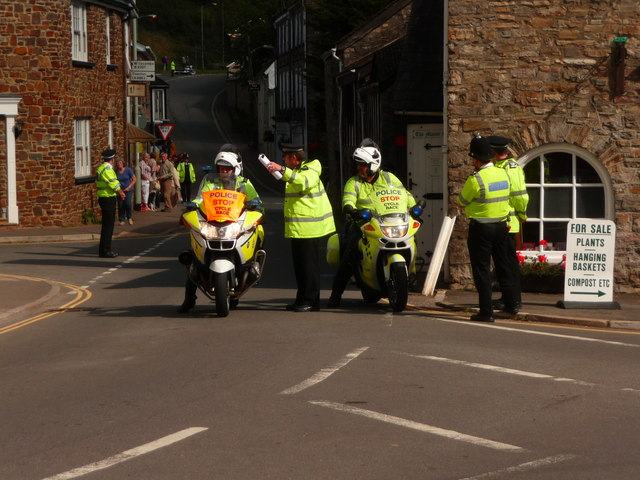 Bampton : Back Street & Police Officers