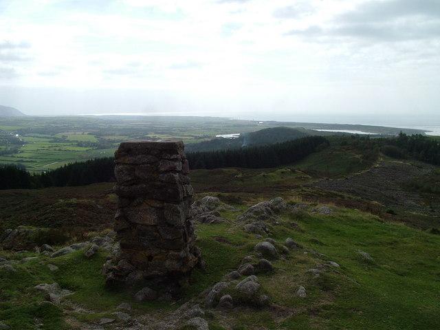 Trig pillar, Hooker Crag