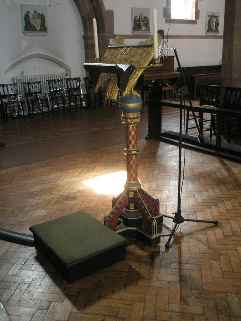 The lectern at St Alban's, Copnor