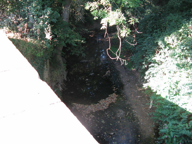 A stagnant North River that should be flowing under Slaughter Bridge