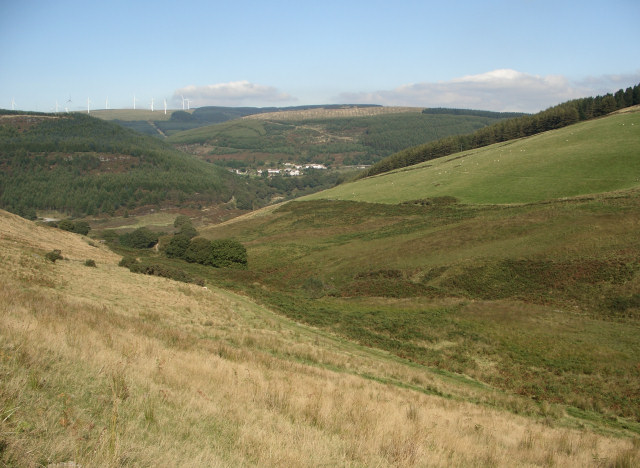 The lower part of the valley of Nant Tryfal