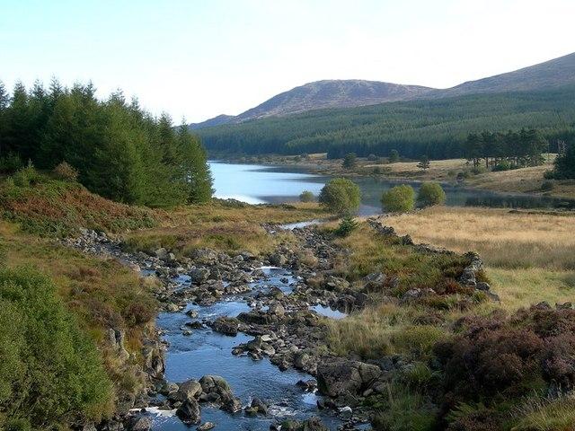 Gala Lane Entering Loch Doon