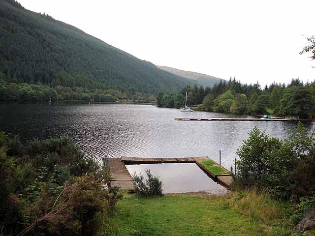 Landing stage on Loch Oich