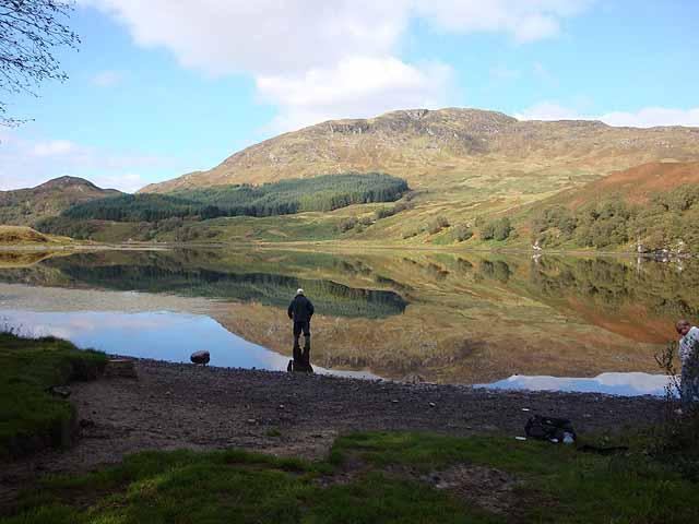 Angler on Loch Iubhair