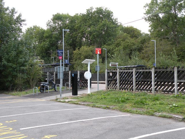 The entrance to Bayford Railway Station from the car park