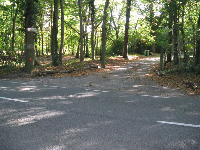 Wooded entrance to Rowhook Hill House