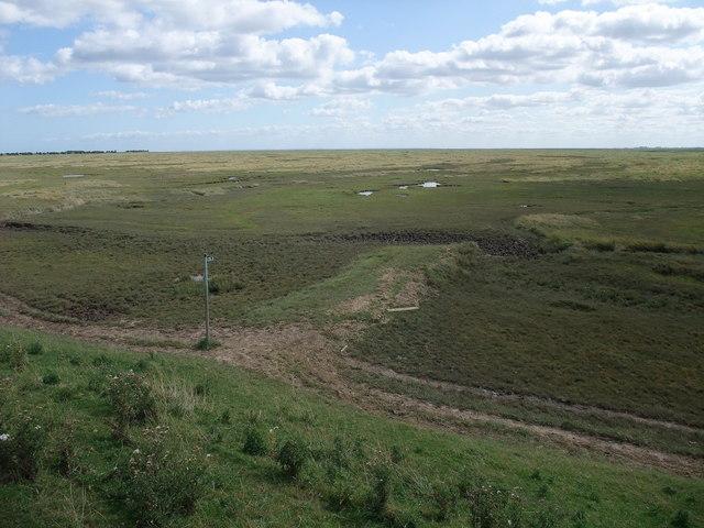 Footpath into Frampton Marsh Nature Reserve