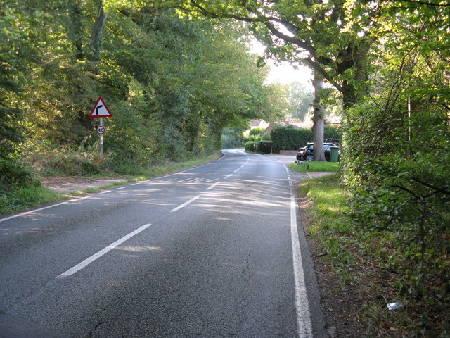 Rowhook Road approaching Rowhook