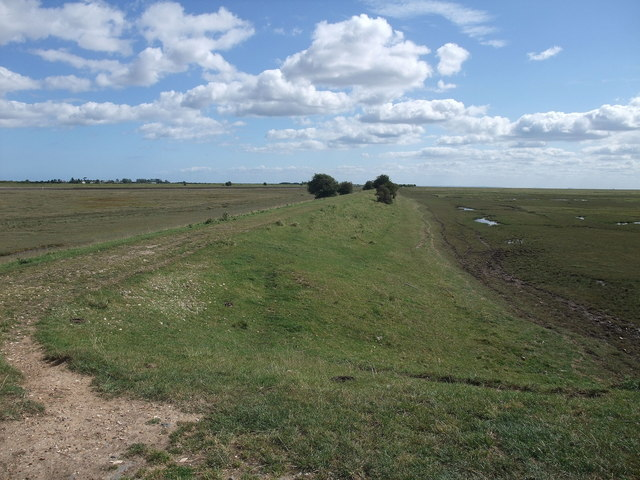 Footpath leading to the mouth of the River Witham