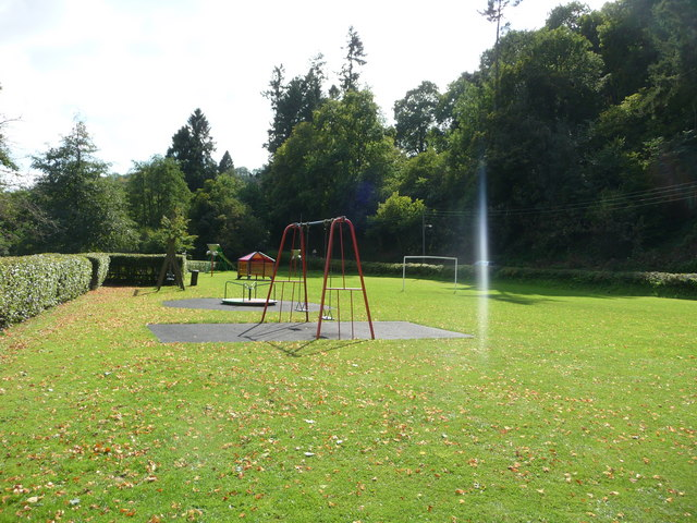 Dulverton : Swings and Roundabout in the Playground