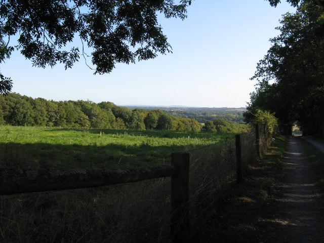 View across the Low Weald and to the South Downs on the horizon