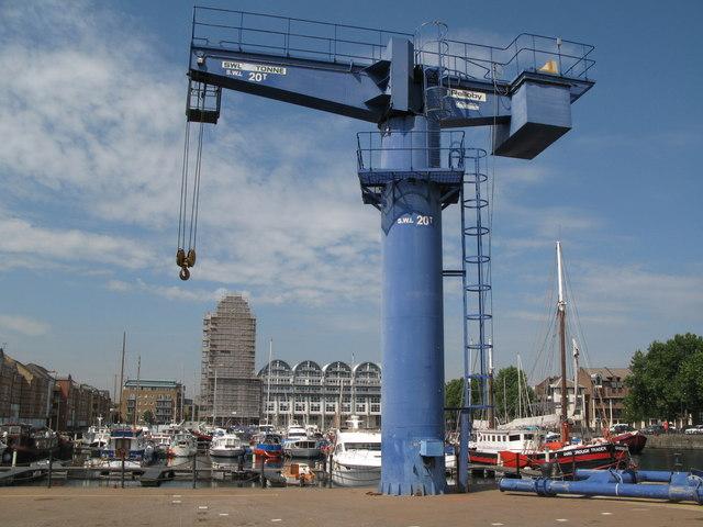 Boat lifting crane at South Dock