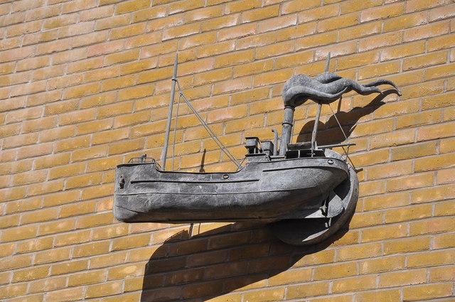 Wall decoration at Mermaid Quay - Cardiff Bay