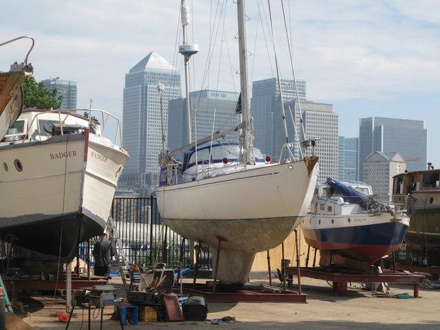 Boat repair yard at South Dock (2)