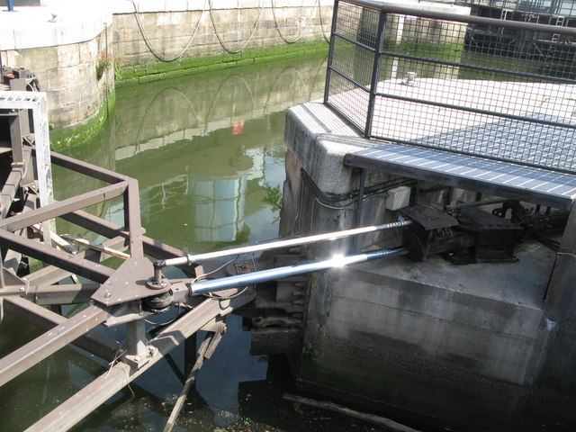 Part of the lock gate mechanism at South Dock