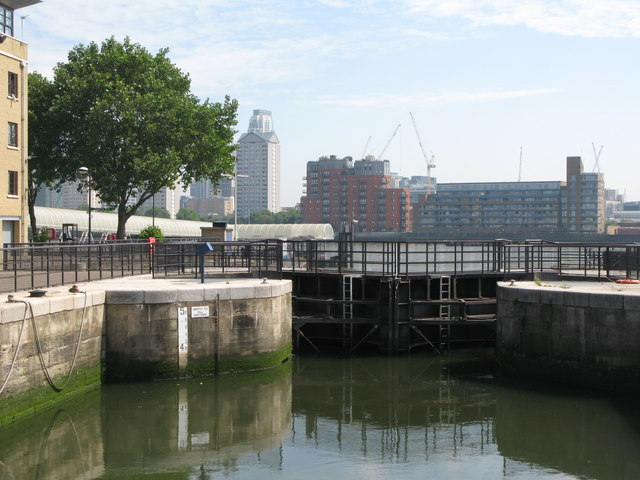 The lock at South Dock