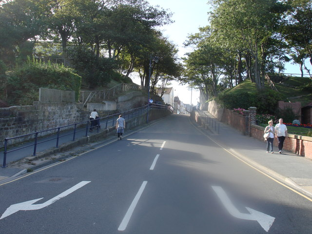 Looking up Cargate hill,Filey