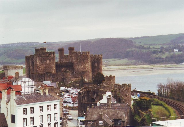 Conwy Castle from the town walls, Wales