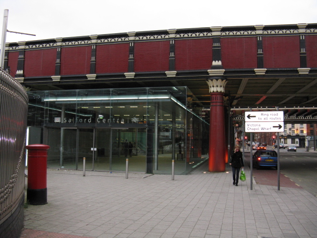 Entrance To Salford Central Station