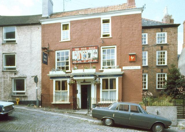 The Five Alls, Hocker Hill Street, Chepstow, 1976
